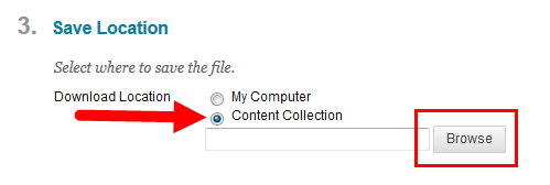 Choose Content Collection